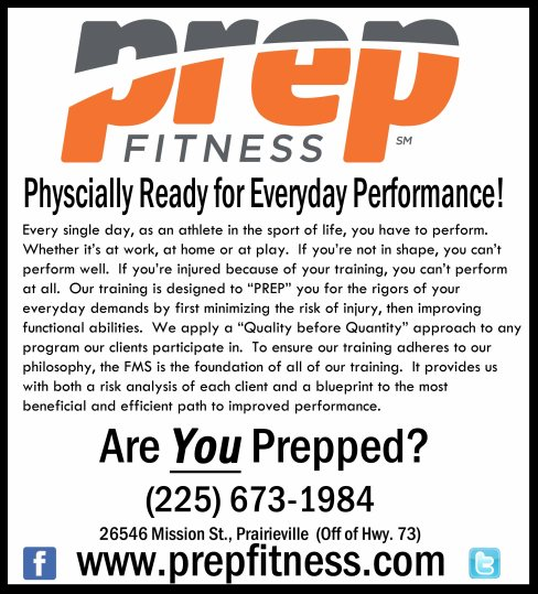 prep fitness one fourth ad sports scene copy